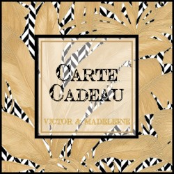 CARTE CADEAU VICTOR ET MADELEINE 100 EUROS