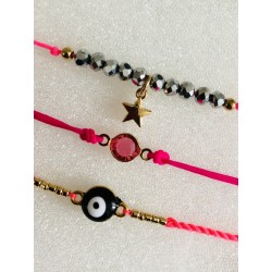 LOT DE 3 BRACELETS NUSA DUA ROSE