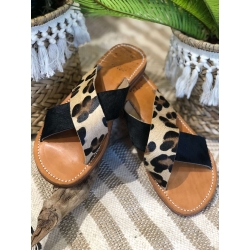 MULES MA FILLE NOMADE LEOPARD
